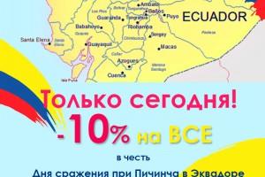 -10 % на все ко Дню битвы при Пичинча!