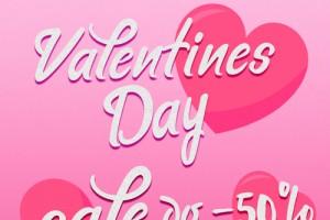 Супер SALE в честь Дня святого Валентина!