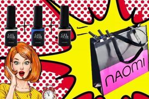 Три гель-лака Naomi и стильная сумка в подарок!