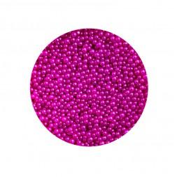 Бульонки для декорування нігтів Naomi 02, скляні, колір фуксія 1 мм, 4 г