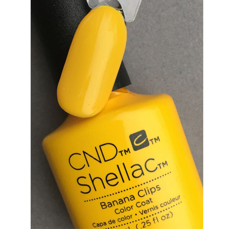 CND Shellac Banana Clips бананово-желтый эмалевый, 7,3 мл, фото 3, 339.00 грн.