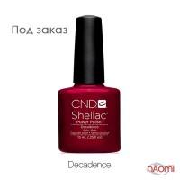CND Shellac Decadence темный бордово-красный, 15 мл