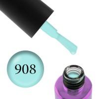 Гель-лак F.O.X Masha Create Pigment 908 мятный эмалевый полупрозрачный, 6 мл