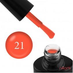 Гель-лак FOCUS PREMIUM 021 неоновый оранжевый с флуоресцентным эффектом, 8 мл