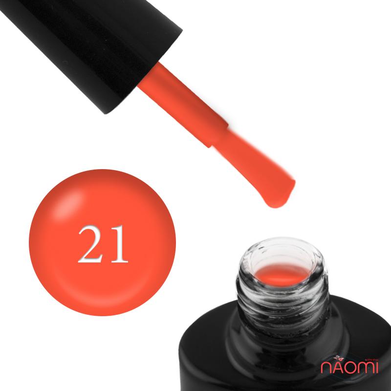 Гель-лак FOCUS PREMIUM 021 неоновый оранжевый с флуоресцентным эффектом, 8 мл, фото 1, 135.00 грн.