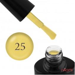 Гель-лак FOCUS PREMIUM 025 жовтий з шимер-пудрою, 8 мл