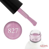 Гель-лак Koto 827 рожевий з голографічними шимерами і перламутром, 5 мл