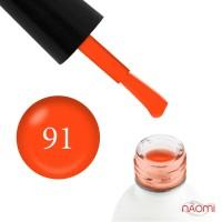 Гель-лак однофазный Koto 091 неоновый оранжевый с флуоресцентным эффектом, 5 мл