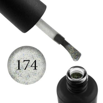 Гель-лак My Nail 174 прозрачный, с разноцветным переливающимися блестками, 9 мл, фото 1, 85.00 грн.