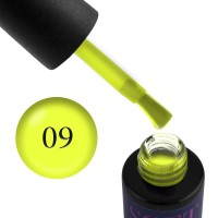 Гель-лак Naomi Soft Touch ST 09 неоновый желтый, полупрозрачный, флуоресцентный, матовый, 6 мл