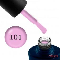Гель-лак NUB 104 Cashmere Coat розовая сирень, 8 мл
