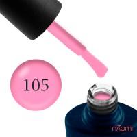 Гель-лак NUB 105 розовый, плотный, эмалевый, 8 мл