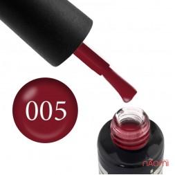 Гель-лак Oxxi Professional 005 темный красный, 8 мл