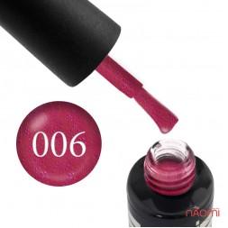 Гель-лак Oxxi Professional 006 темный красный с микроблеском, 10 мл