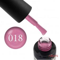 Гель-лак Oxxi Professional 018 розовый с микроблеском, 10 мл