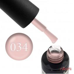 Гель-лак Oxxi Professional 034 бледный персиково-розовый эмаль, 8 мл
