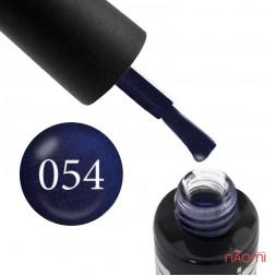 Гель-лак Oxxi Professional 054 темный фиолетовый с голубым микроблеском, 10 мл