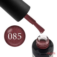 Гель-лак Oxxi Professional 085 красно-коричневый с розовым микроблеском, 10 мл