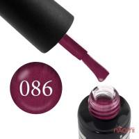 Гель-лак Oxxi Professional 086 розовая фуксия с микроблеском, 8 мл
