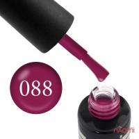 Гель-лак Oxxi Professional 088 темный красно-малиновый эмаль, 8 мл