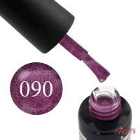 Гель-лак Oxxi Professional 090 темно-розовый с очень мелкими блестками, 10 мл