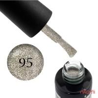 Гель-лак Oxxi Professional 095 насыщенные серебристые блестки, 8 мл