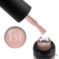 Гель-лак Oxxi Professional 151 нежный розово-персиковый с микроблеском, 10 мл