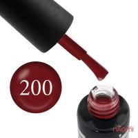 Гель-лак Oxxi Professional 200 бордовый с микроблеском, 10 мл