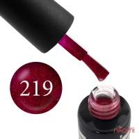 Гель-лак Oxxi Professional 219 красно-бордовый с блестками, 10 мл