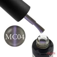 Гель-лак Oxxi Professional Magic Cat 004 серо-кофейная основа-хамелеон, 8 мл
