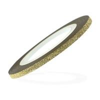 Стрічка-скотч оксамитова для нігтів, колір золото, 3 мм