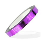 Лента-скотч для ногтей, зигзаги, цвет фиолетовый 5 мм