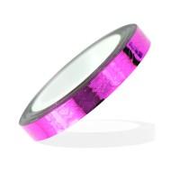 Лента-скотч для ногтей, зигзаги, цвет розовый 5 мм