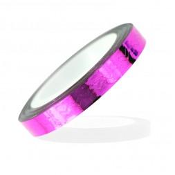 Стрічка-скотч для нігтів, зигзаги, колір рожевий, 5 мм
