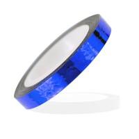 Лента-скотч для ногтей, зигзаги, цвет синий 5 мм