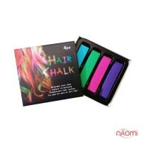 Мелки для волос Hair Chalking, 4 шт.