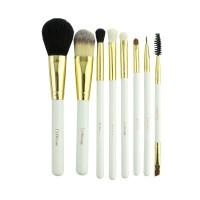 Набор кистей для макияжа DUcare натуральный и искусственный ворс, в косметичке, 8 шт.