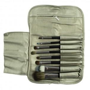 Набор кистей  для макияжа из натурального ворса, в чехле, 8 шт.