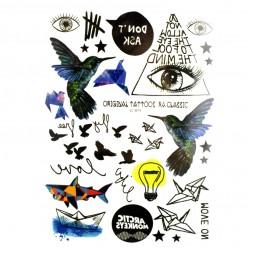 Наклейка для временного тату LC-879 Arctic Monkeys 15х21см