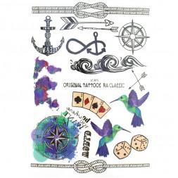 Наклейка для тимчасового тату LC-875 World 15х21см