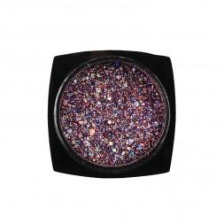 Декор для ногтей Starlet Professional блестки с конфетти № 13, цвет розово-лиловый