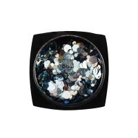 Декор для ногтей Starlet Professional конфетти (камифубуки) № 06, цвет голубое серебро
