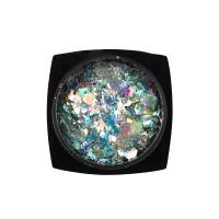Декор для ногтей Starlet Professional конфетти (камифубуки) № 09, цвет бирюзово-серебряный