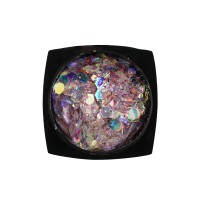Декор для ногтей Starlet Professional конфетти (камифубуки) № 11, цвет розово-голубой
