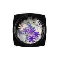 Декор для ногтей Starlet Professional снежинки № 15, цвет серебро с голограммой