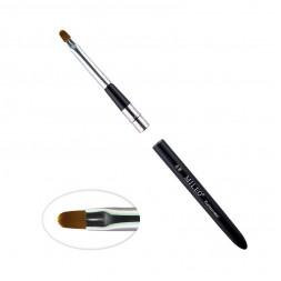 Кисть для геля MILEO 6, арочная, искусственный ворс, с черной ручкой
