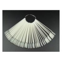 Типсы для образцов на кольце прямоугольные матовые 12,5  см, 50 шт.