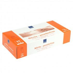 Перчатки нитриловые упаковка - 5 пар, размер M (без пудры), оранжевые