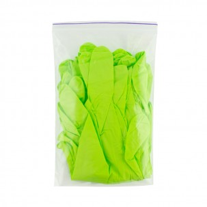 Перчатки нитриловые упаковка - 5 пар, размер S (без пудры), зеленые