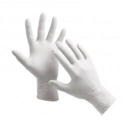 Перчатки латексные упаковка - 5 пар, размер M (припудренные), белые